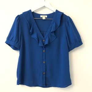 2FOR15🌴 Monteau Ruffle Top Blouse  M